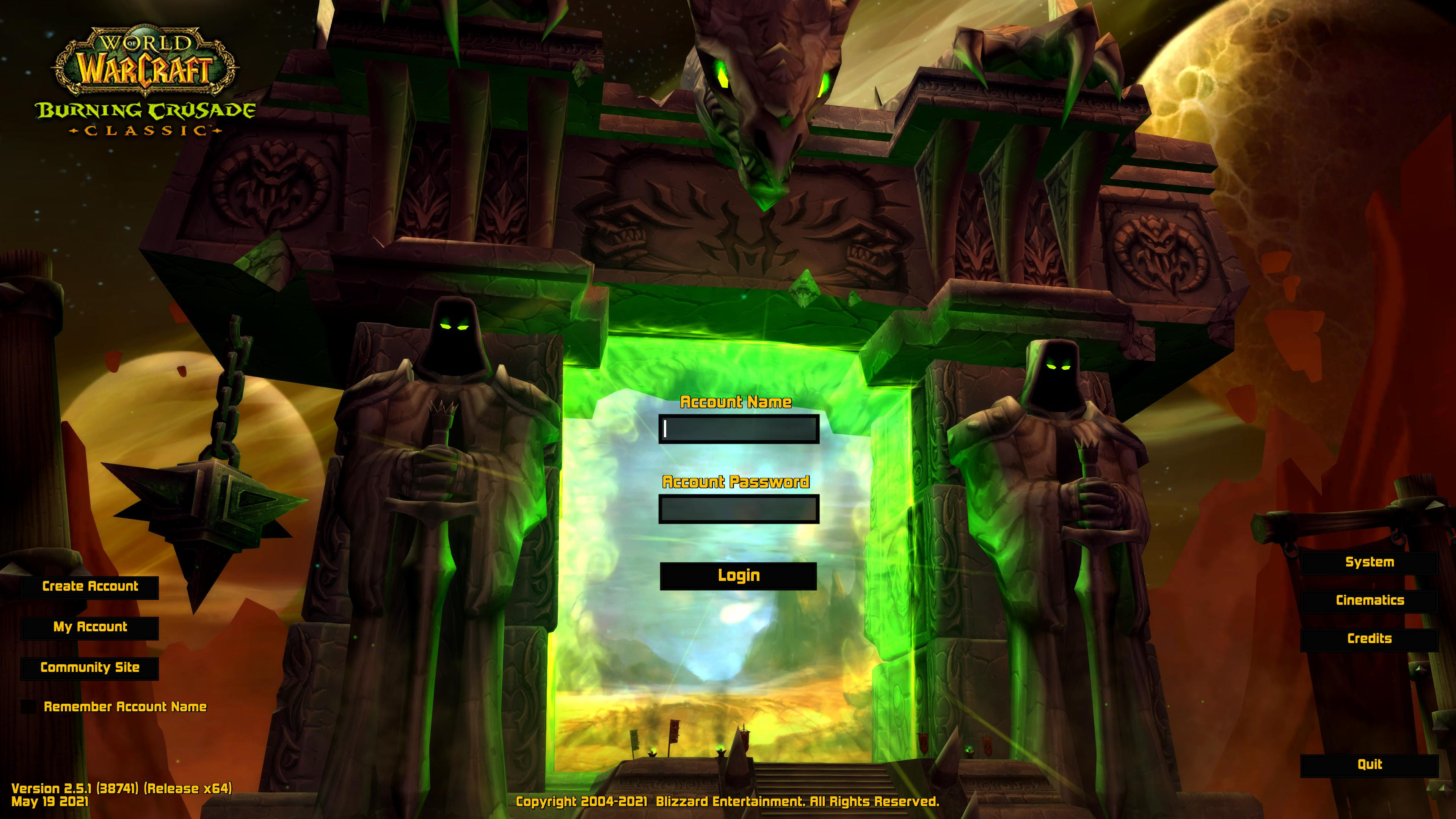 ElvUI Login Screen and Character Select